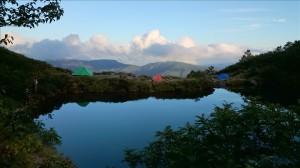 夕方の奥又白池
