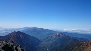焼岳、乗鞍岳、御嶽山