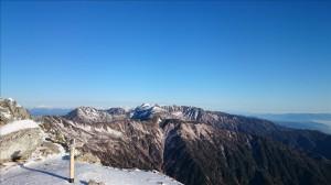 空木岳山頂より、木曽駒ヶ岳方面