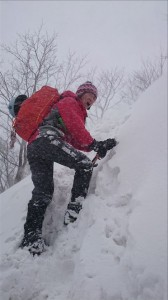 吹雪の中のドネ子さん