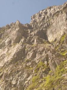 インゼル付近から見たDフェースと北壁。ここから20分ぐらい