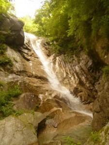 赤石沢の大きな滑滝