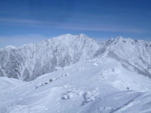 真っ白な南駒ケ岳