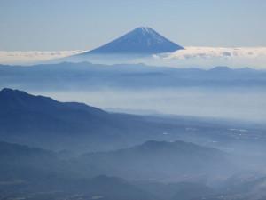 終了点に着くと、富士山がどーん。