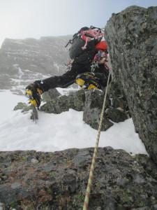 II峰の登攀。超悪い。