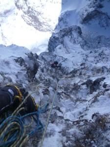 4P目。ステミングで軽く登れるピッチ