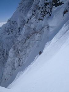 急斜面を気持ちよさそうに登る