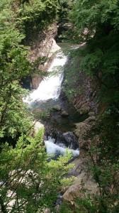 巻いてる途中で見えた牛鬼淵2つ目の滝