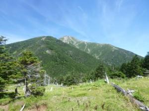 聖平からの聖岳。標高差は740mぐらい・・・