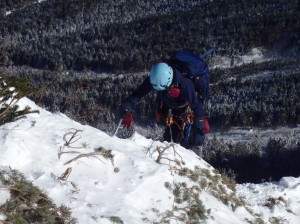 北稜取り付きまじかの急登