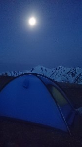 明け方。月と木星のランデブー