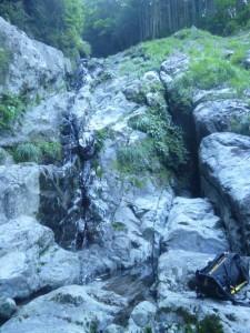 さらに滑りやすい2つ目の滝