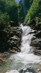 ゴルジュの滝。気持ちよく登っていける