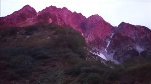 朝焼けの前穂高岳
