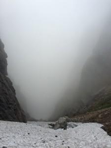 池ノ谷ガリー霧