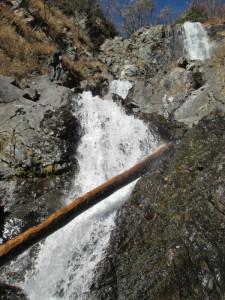 ?番目の滝。下部は倒木が多かった。
