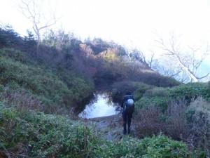 満々と水をたたえたひょうたん池