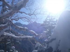 Uターン地点から見た宝剣岳。まだまだ遙かに遠い、、、