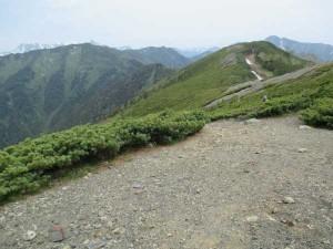 蝶ヶ岳方面