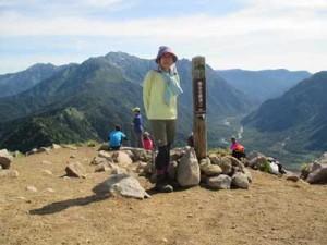 焼岳山頂。