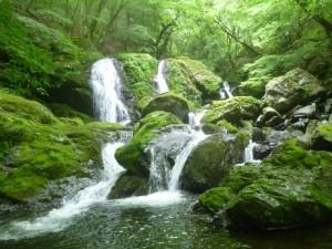 三筋の美しい滝