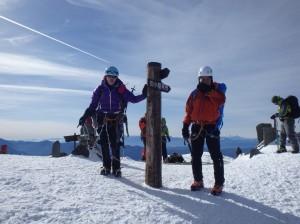 阿弥陀岳山頂です。嬉しいです!